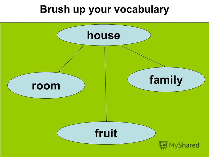 Brush up your vocabulary house room family fruit