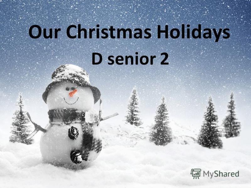 Our Christmas Holidays D senior 2