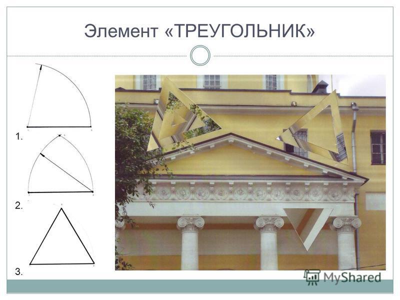 Элемент «ТРЕУГОЛЬНИК» 1. 2. 3.