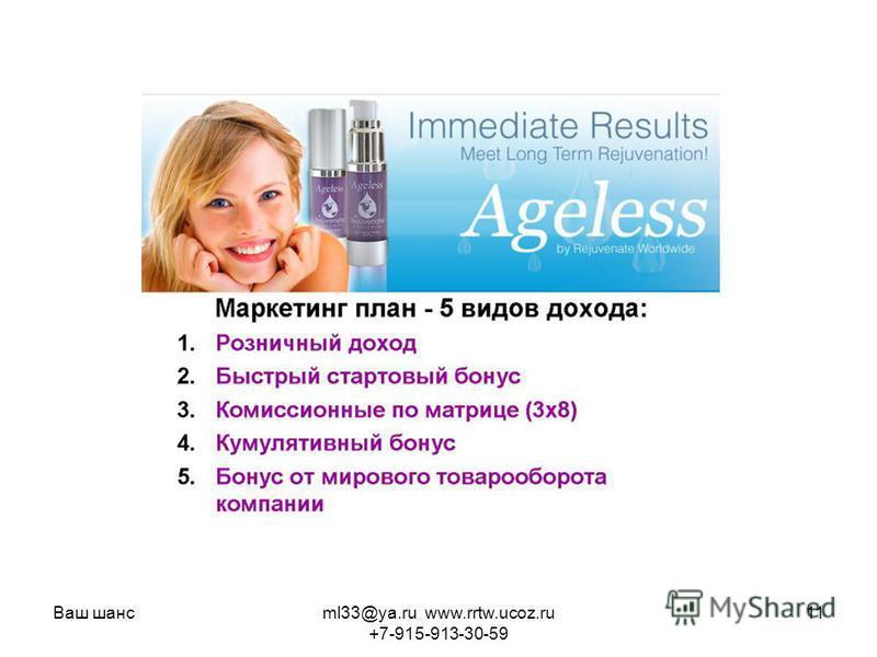 Ваш шансml33@ya.ru www.rrtw.ucoz.ru +7-915-913-30-59 11