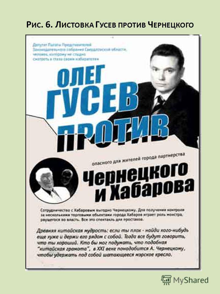 Р ИС. 6. Л ИСТОВКА Г УСЕВ ПРОТИВ Ч ЕРНЕЦКОГО