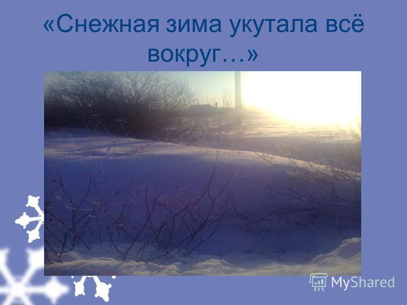 «Снежная зима укутала всё вокруг…»