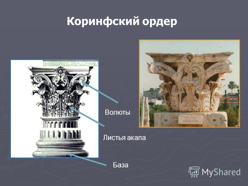 Волюты Листья анапа База Коринфский ордер