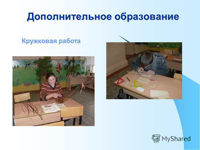 Дополнительное образование Кружковая работа