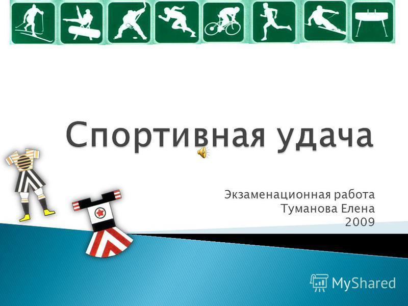 Экзаменационная работа Туманова Елена 2009