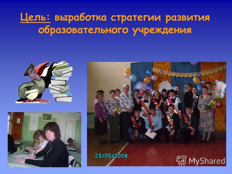 Цель: выработка стратегии развития образовательного учреждения