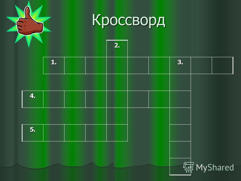 Кроссворд 2. 1.3. 4. 5.