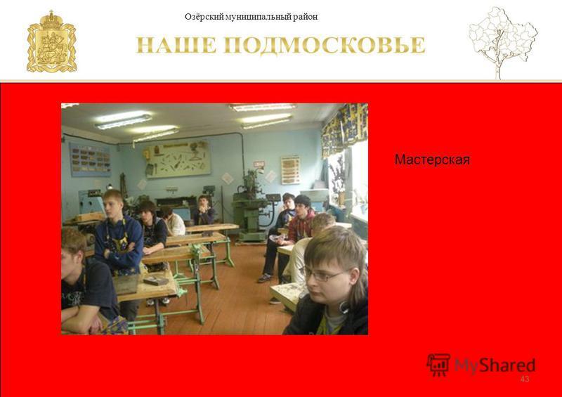 Паспорт школы Люберецкий муниципальный район 43 Мастерская Озёрский муниципальный район