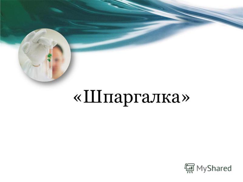 «Шпаргалка»