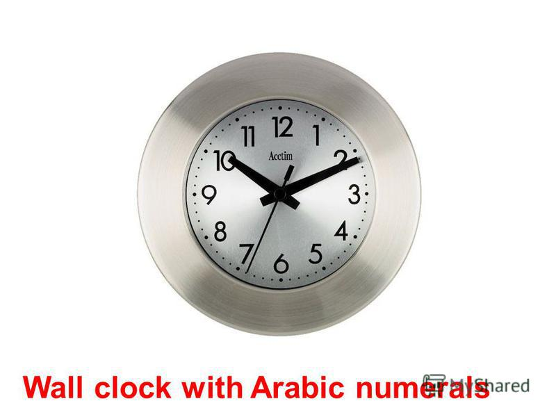 Wall clock with Arabic numerals