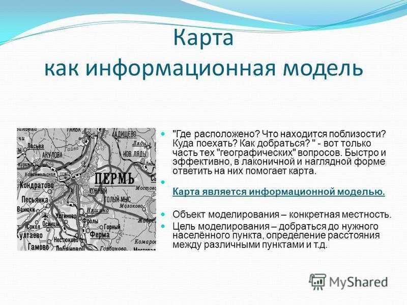 Карта как информационная модель