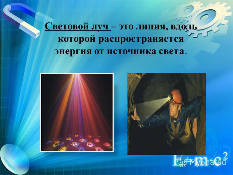 Точечный источник света – это светящееся тело, размеры которого намного меньше расстояния, на котором мы оцениваем его действие.