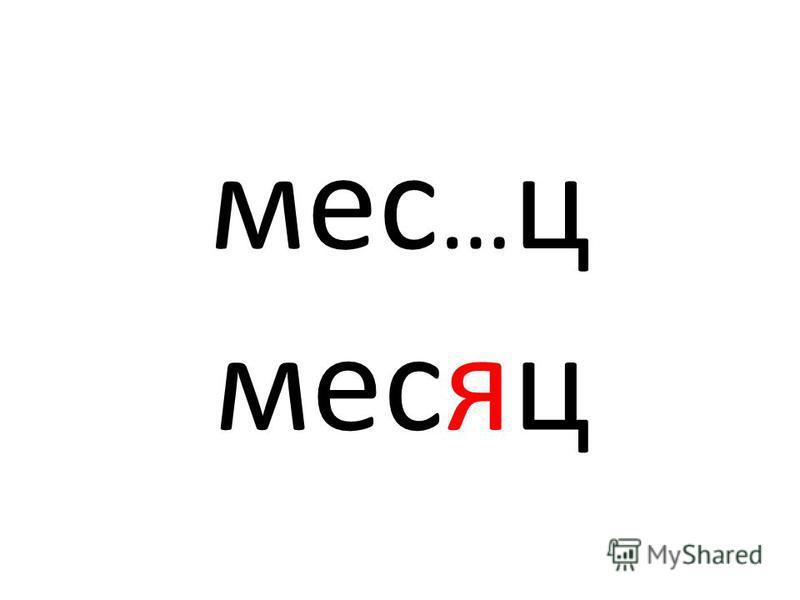 мес … ц месяц