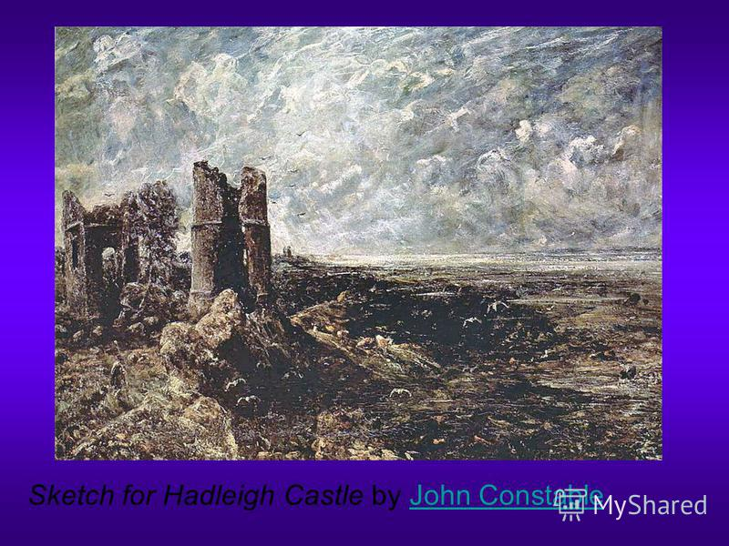 Sketch for Hadleigh Castle by John ConstableJohn Constable