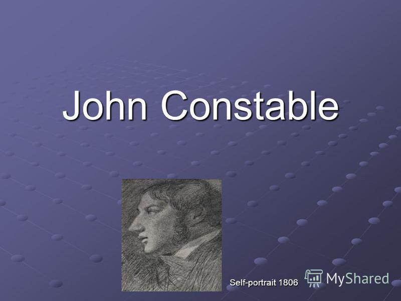 John Constable Self-portrait 1806