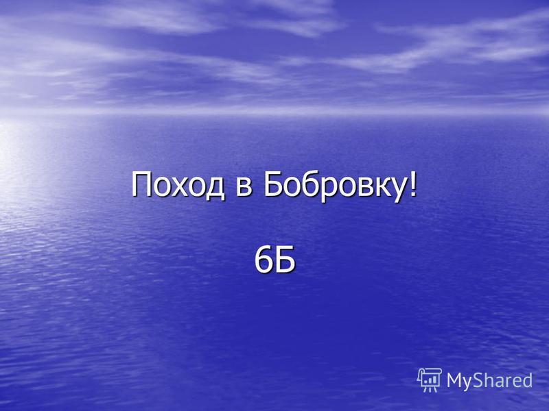 Поход в Бобровку! 6Б