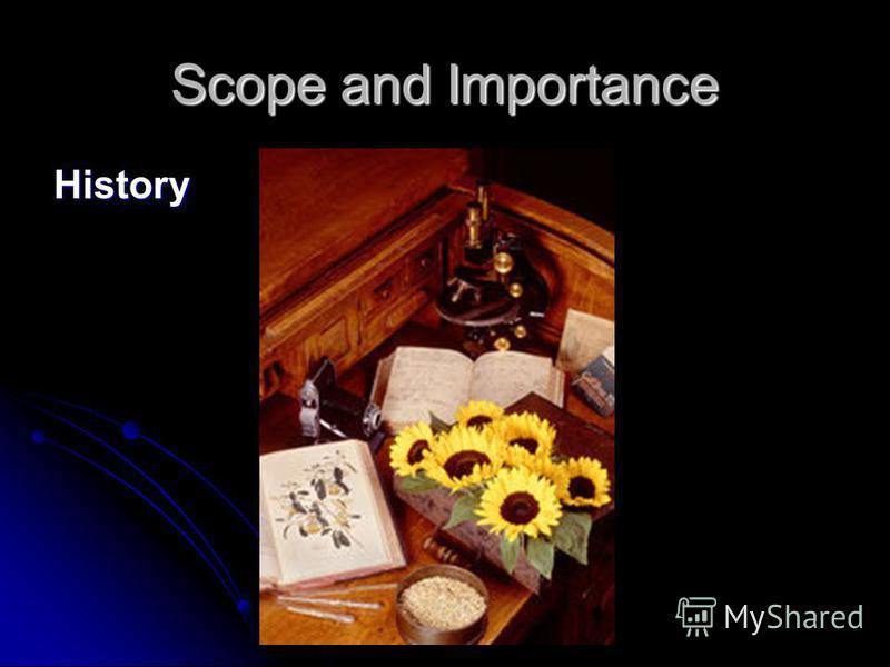 Dr.K.KUMARAN Scope and Importance History