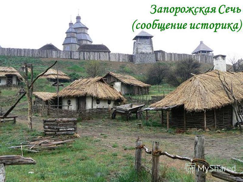 Запорожская Сечь (сообщение историка)
