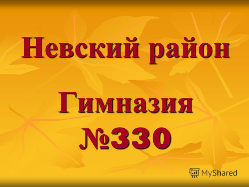 Невский район Гимназия 330