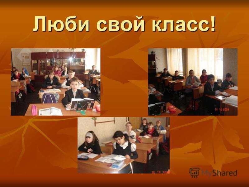 Люби свой класс!