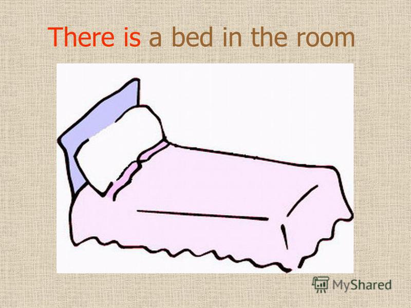 There is a bed in the room