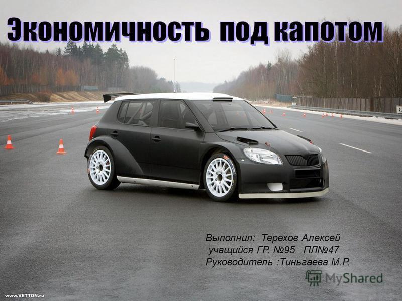 Выполнил: Терехов Алексей учащийся ГР. 95 ПЛ47 Руководитель :Тиньгаева М.Р.