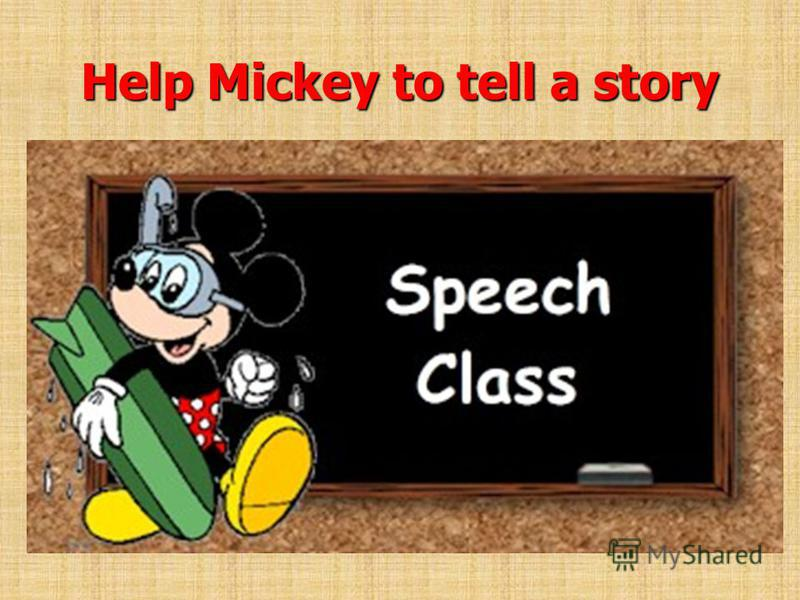 Help Mickey to tell a story