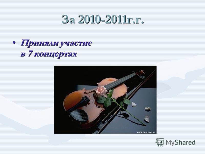 За 2010-2011 г.г. Приняли участие в 7 конкурсах газет Приняли участие в 7 конкурсах газет