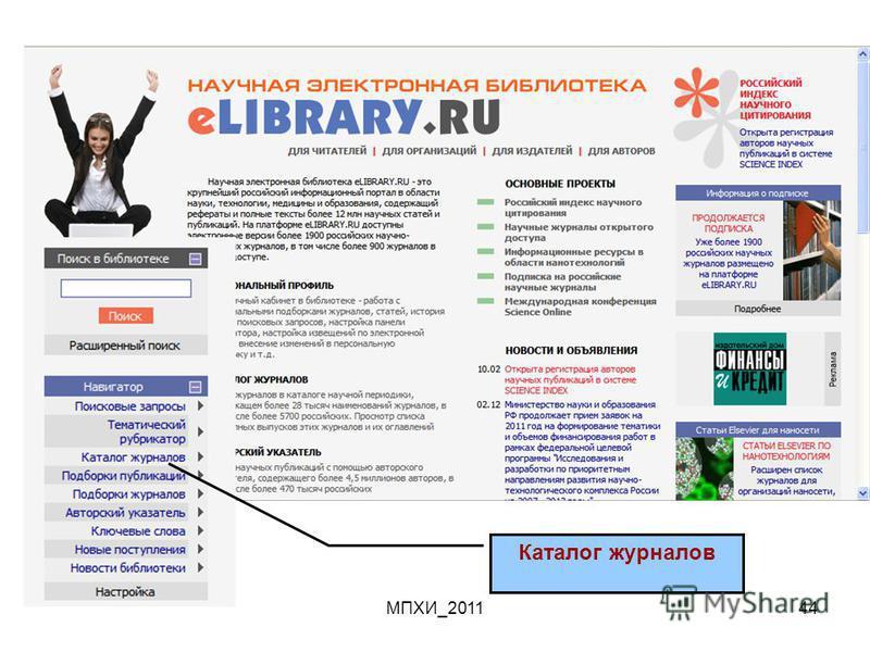 МПХИ_201144 Каталог журналов