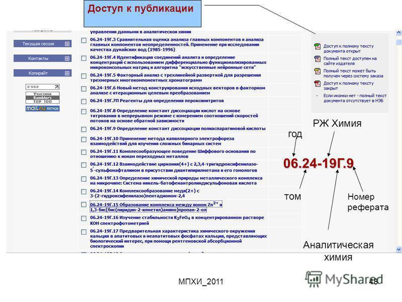 МПХИ_201148 06.24-19Г.9 год том РЖ Химия Аналитическая химия Номер реферата Доступ к публикации