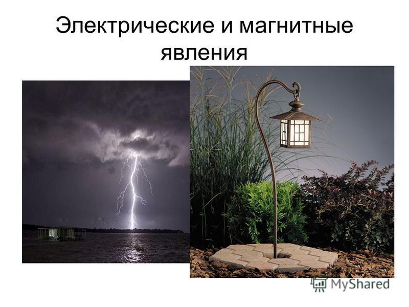 Электрические и магнитные явления