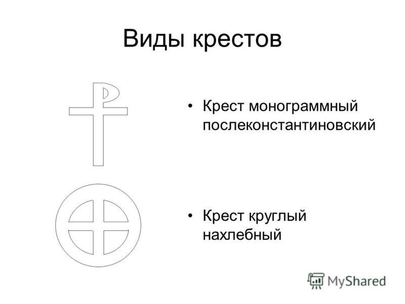 Виды крестов Крест монограммный послеконстантиновский Крест круглый на хлебный