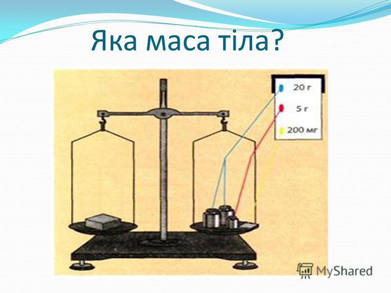 Яка маса тіла?