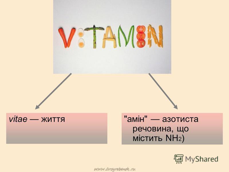 vitae життяамін азотиста речовина, що містить NH 2 )