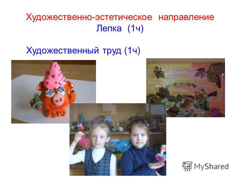 Художественно-эстетическое направление Лепка (1 ч) Художественный труд (1 ч)