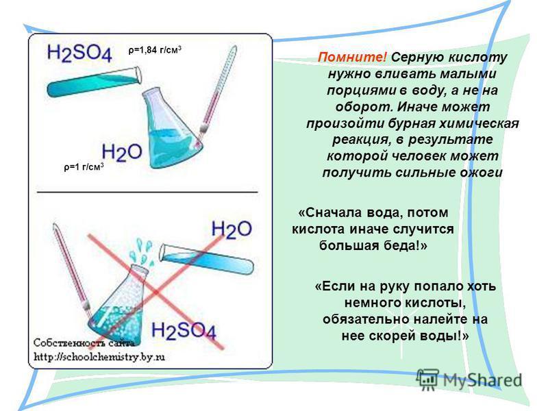 Юные химики, помните: кислоту добавляют в воду