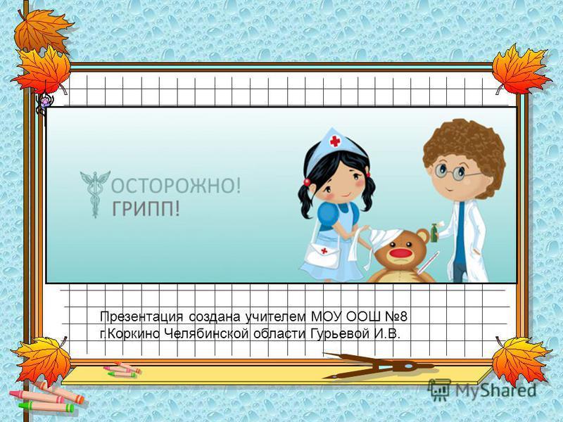 Презентация создана учителем МОУ ООШ 8 г.Коркино Челябинской области Гурьевой И.В.