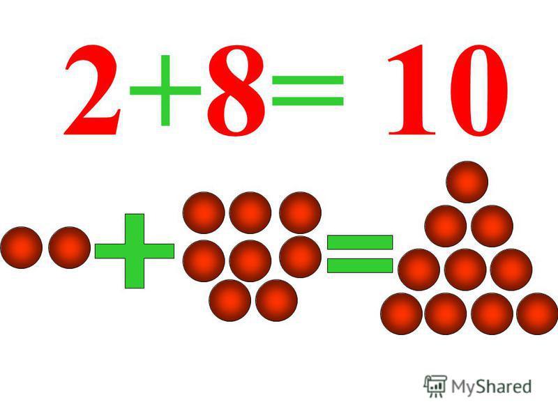 2+8= 10