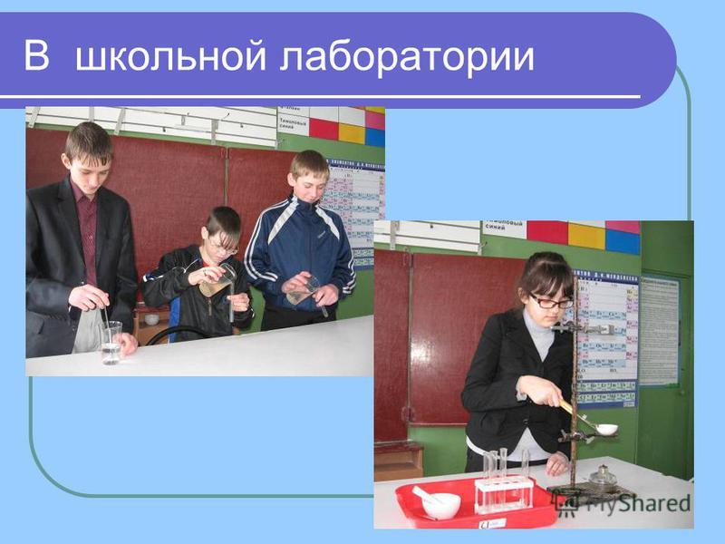 В школьной лаборатории