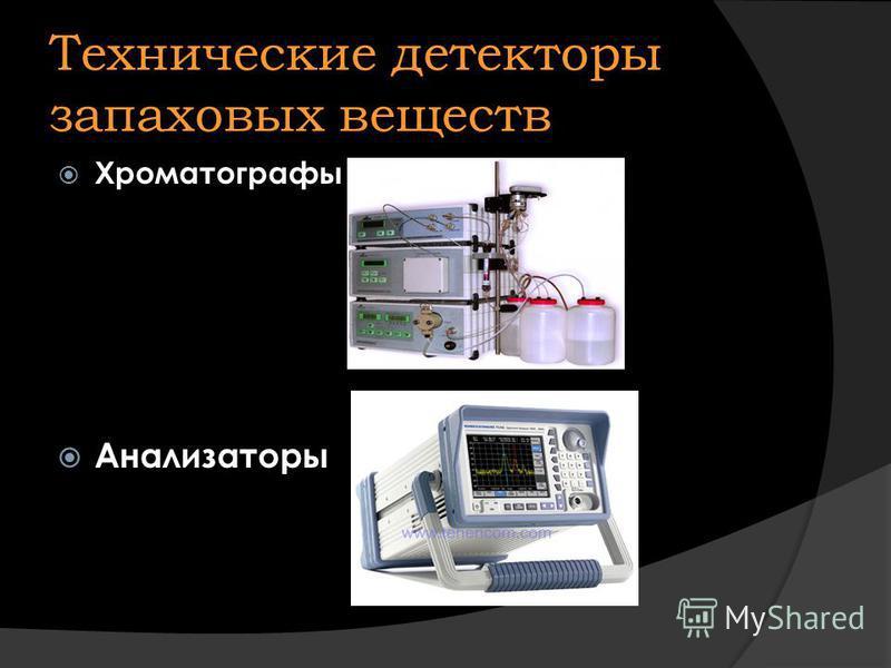 Технические детекторы запаховых веществ Хроматографы Анализаторы