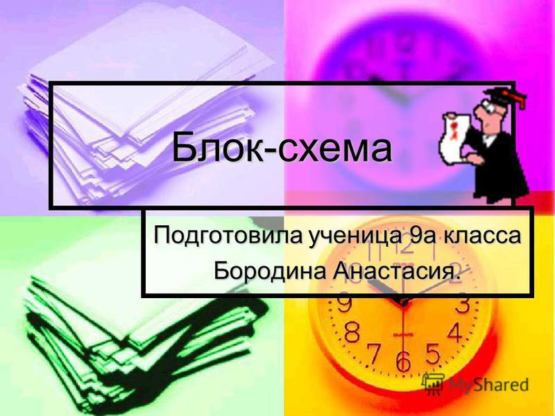 Блок-схема Подготовила ученица 9 а класса Бородина Анастасия.