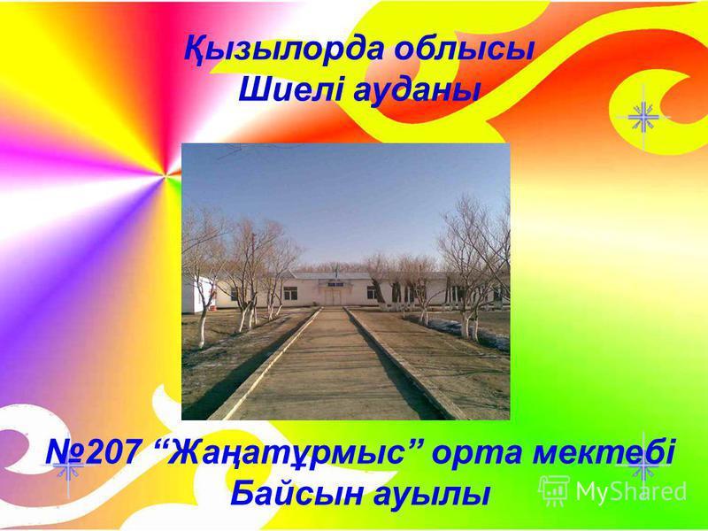Қызылорда облысы Шиелі ауданы 207 Жаңатұрмыс орта мектебі Байсын ауылы