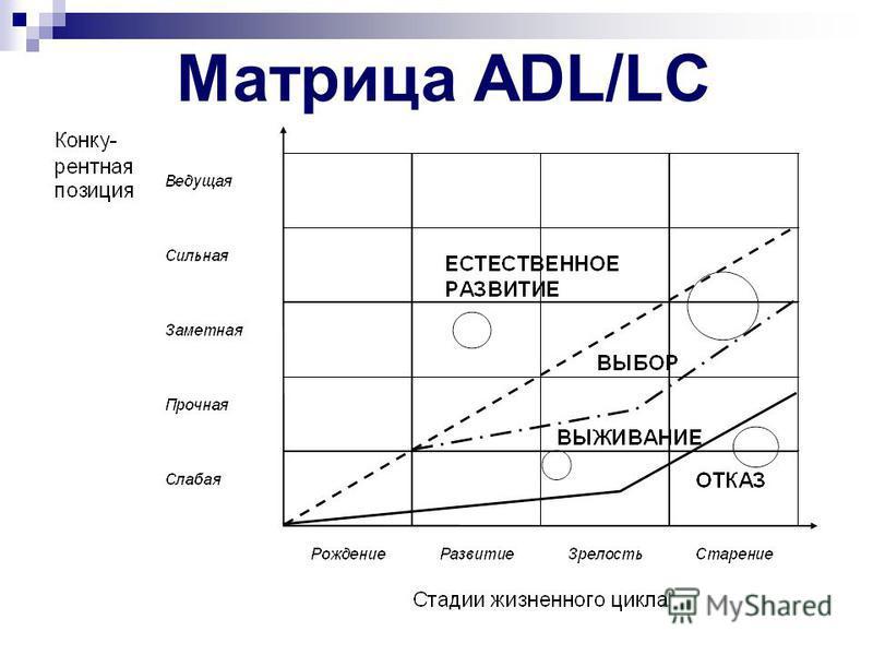 Критерии оценки степени зрелости рынка: Матрица ADL/LC