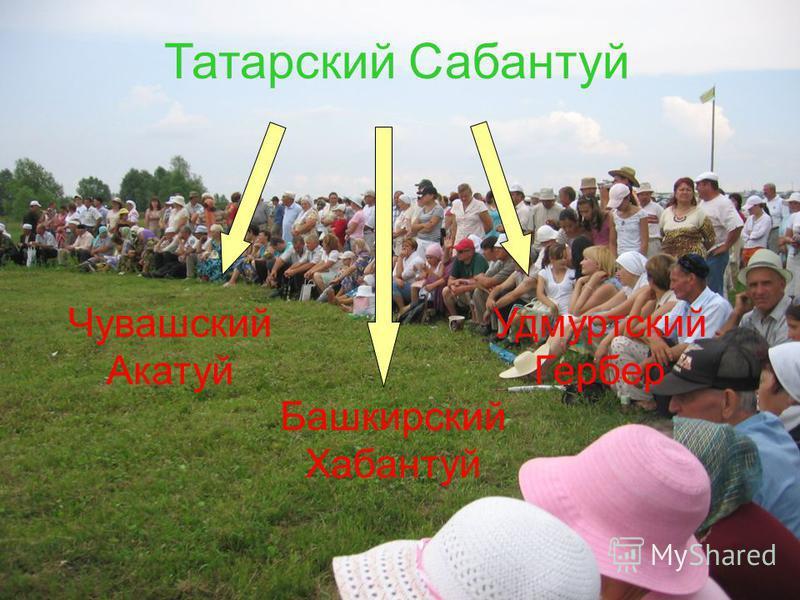 Татарский Сабантуй Чувашский Акатуй Башкирский Хабантуй Удмуртский Гербер