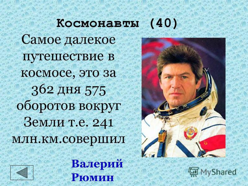 Космонавты (30) Владимир Георгиевич Титов и Муса Хираманович Манаров Самый длительный пилотируемый полет