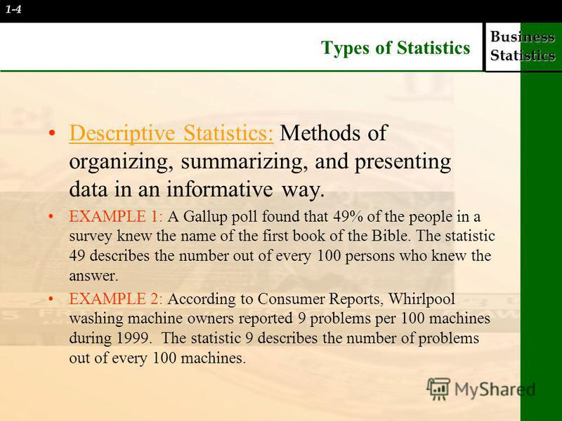 What is descriptive statistics? Examples & concept video.