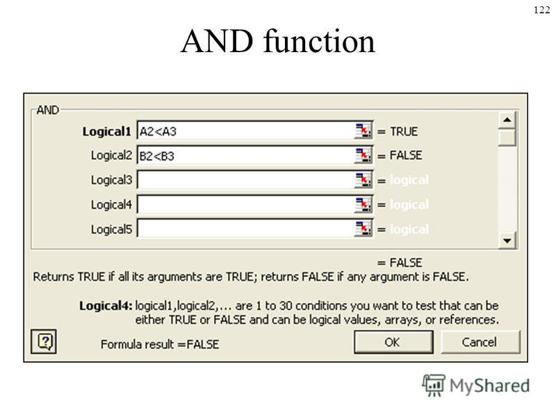 122 AND function