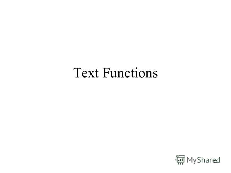 82 Text Functions