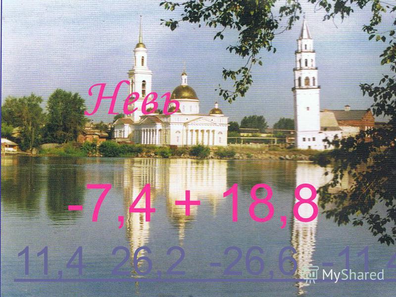 Невь -7,4 + 18,8 11,4 26,2 -26,6 -11,4