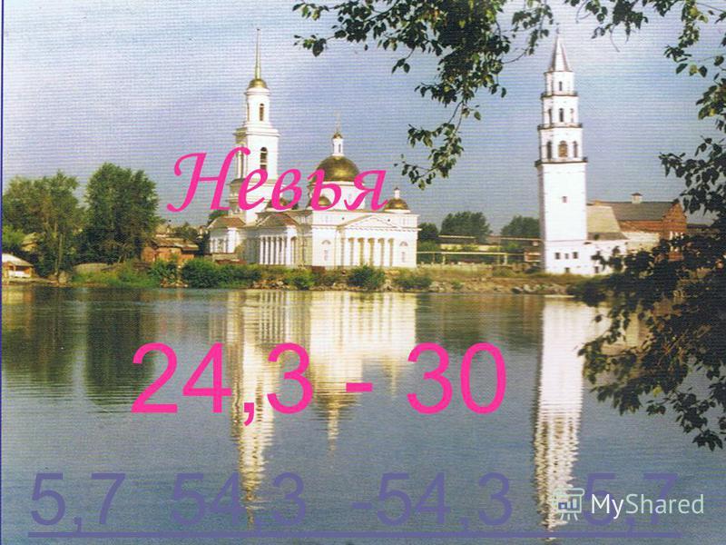 Невья 24,3 - 30 5,7 54,3 -54,3 -5,75,7 54,3 -54,3 -5,7